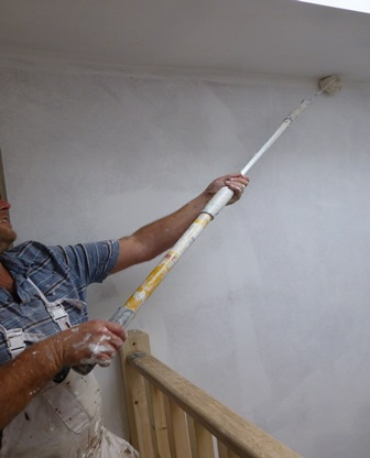Photo 3 – GOOD practice when working at height - painting