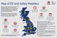 A Map showing levels of daft health and safety excuses