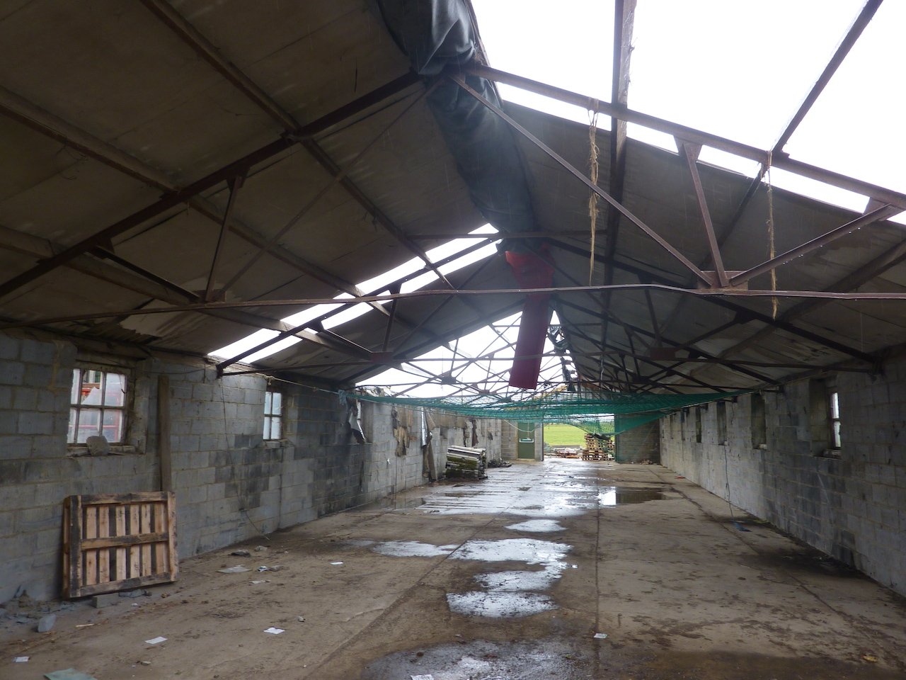 Photo shows the farm building where work took place