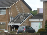 Photo shows unsafe work at height discovered during HSE campaign