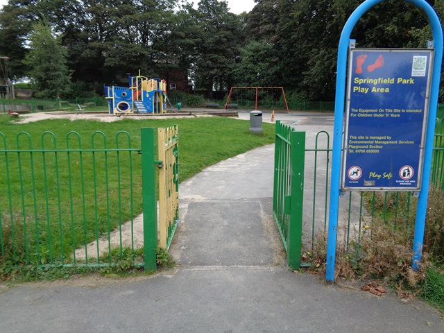 Photo shows the gate where the childs fingers were severed